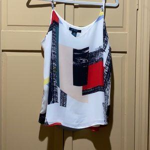 Faith & Zoe geometric print dress tank.